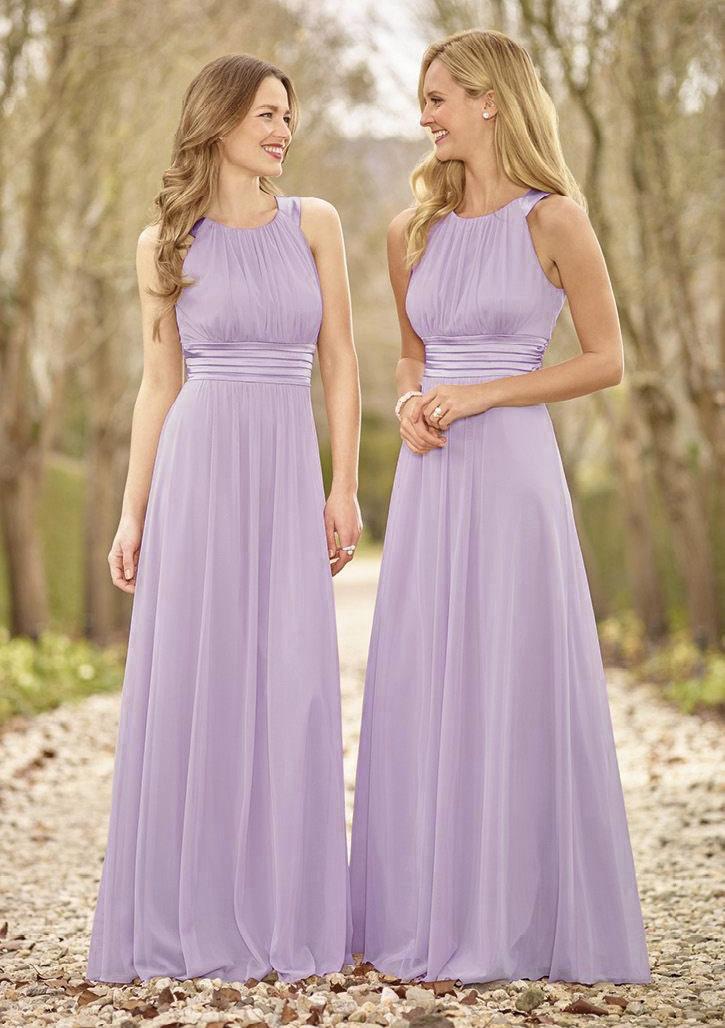 e13cea095804 Chiffon Bridesmaid Dress A-Line/Princess Scoop Neck Long/Floor-Length