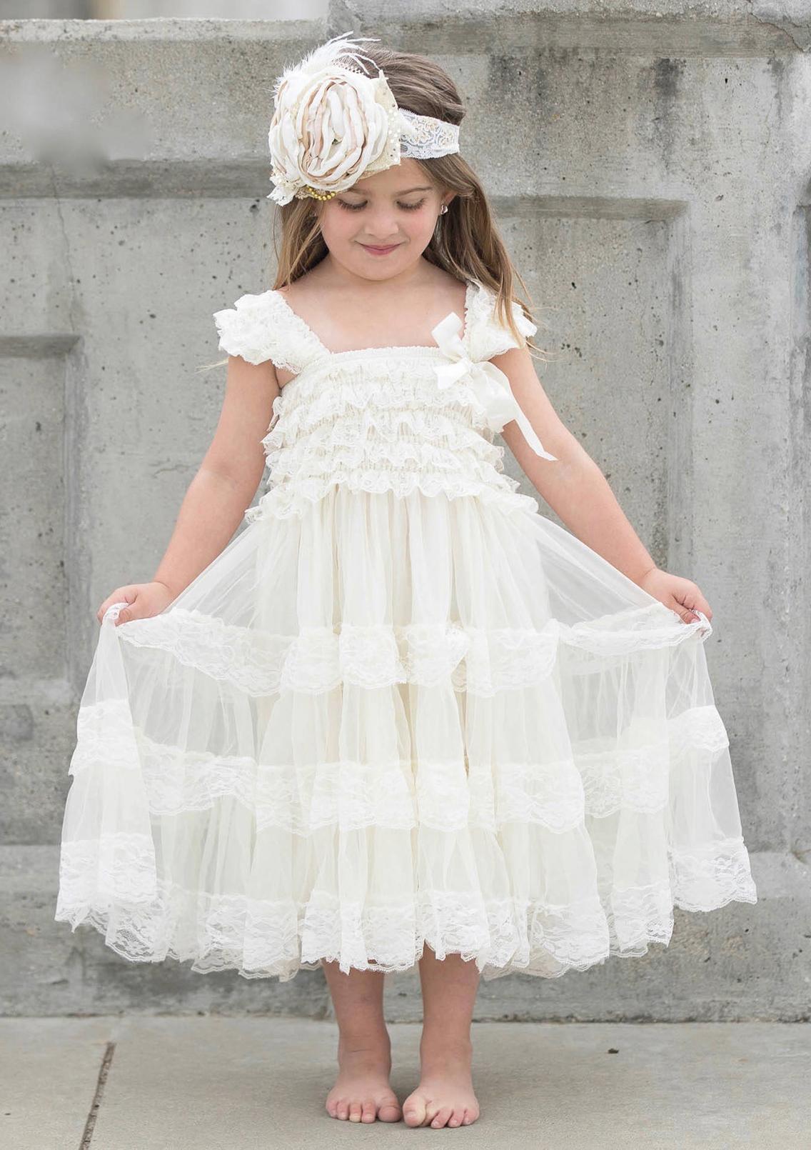 61c5ad99d Lace Flower Girl Dress A-Line/Princess Square Neckline Ankle-Length ...