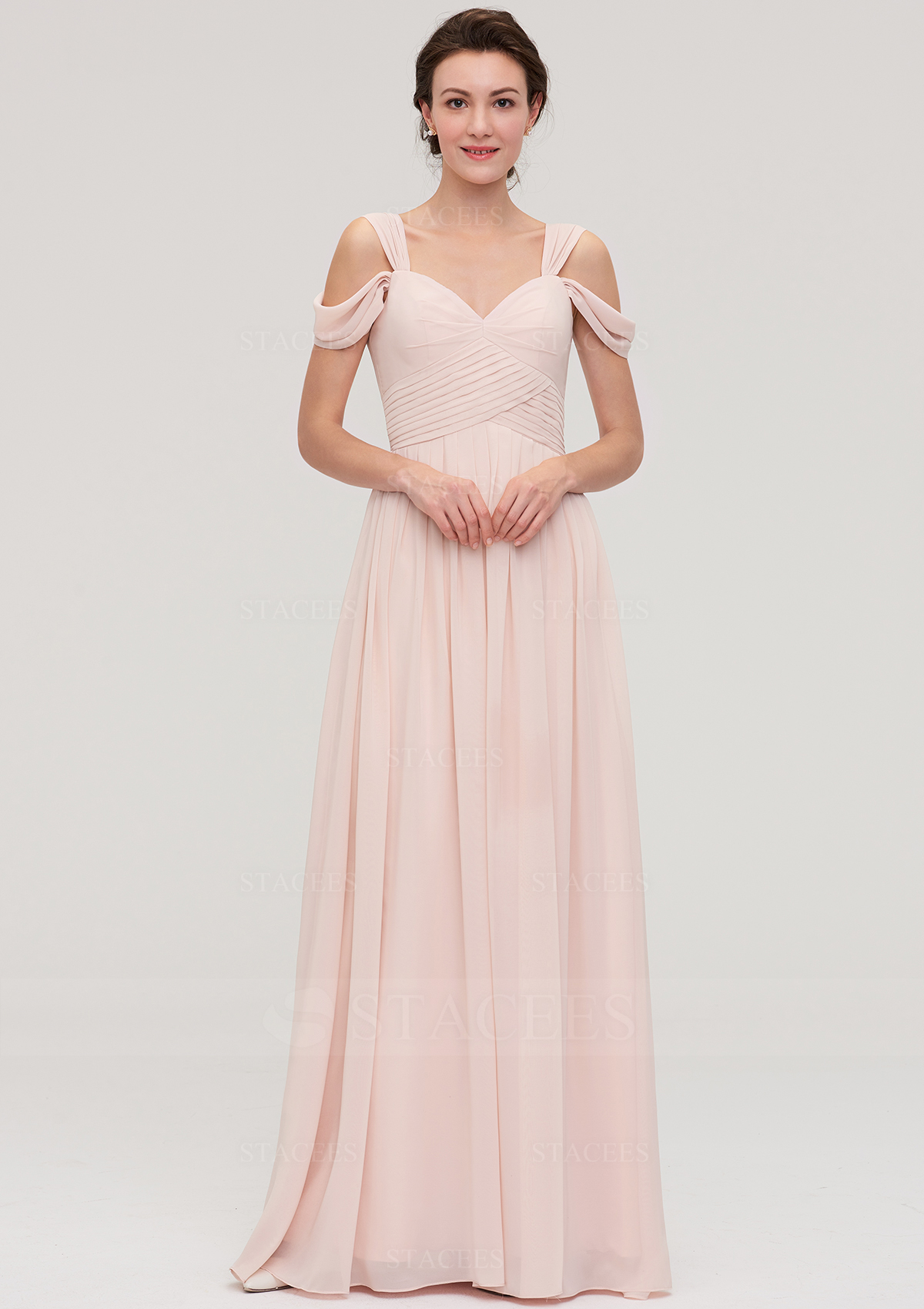 77848028657d A-line/Princess Sweetheart Sleeveless Long/Floor-Length Chiffon ...